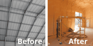 Big Easy Collision before and after spray foam insulation