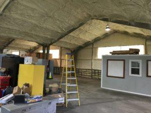 Spray Foam New Orleans Sunlight Contractors Spray foam insulation added to metal building in Kenner, Louisiana 1